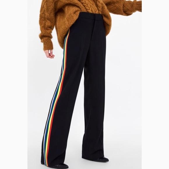 e77f699c Zara Pants | Flowy With Side Stripe | Poshmark